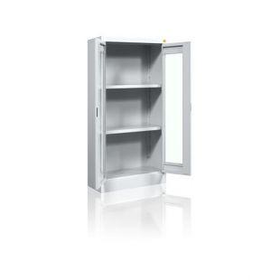 """Metalinė dokumentų spinta su stiklinėmis durimis """"Offi'"""