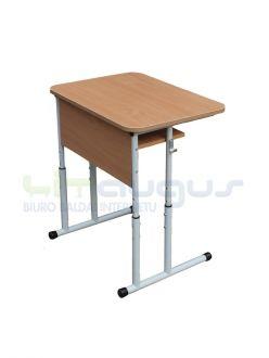 Vienvietis mokyklinis reguliuojamo aukščio stalas