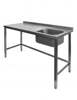 Nerūdijančio plieno stalas su plautuve